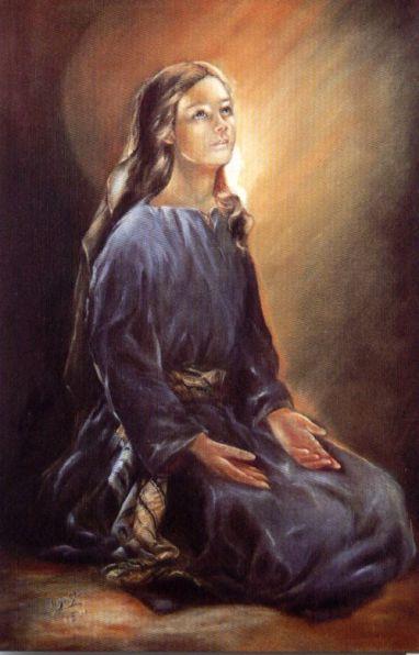María en oración